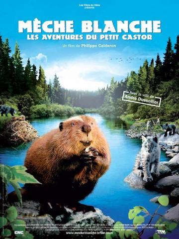 Affiche Mèche Blanche, les aventures du petit castor