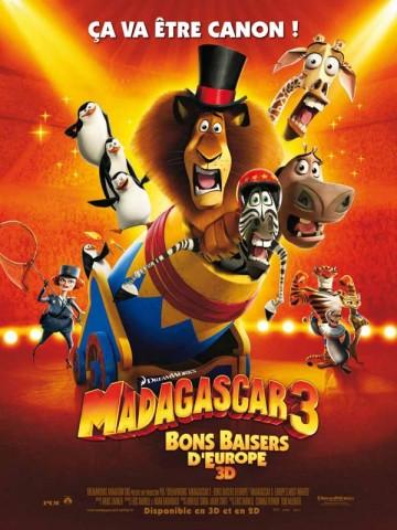 Affiche Madagascar 3: Bons Baisers d'Europe
