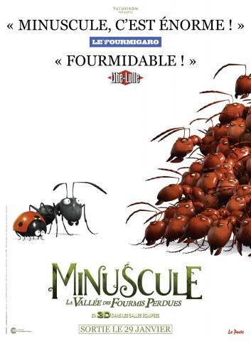 Affiche Minuscule - La vallée des fourmis perdues